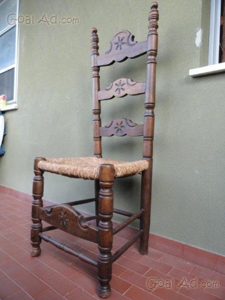 Sedie sedie legno impagliate robuste ottime - Cerca, compra, vendi ...