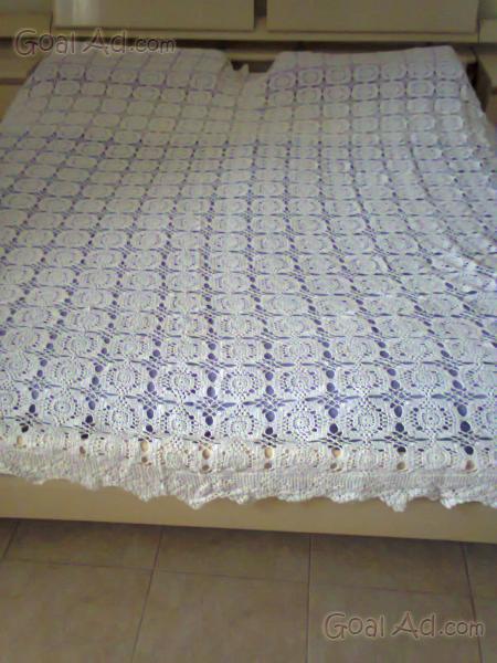 Favolosa Coperta Matrimoniale Uncinetto Puro Cotone Cerca Compra
