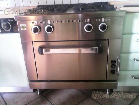 Cucina a gas professionale 4 fuochi