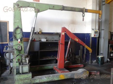 Gruetta sollevamento idraulica pieghevole officina for Pressa usata per officina