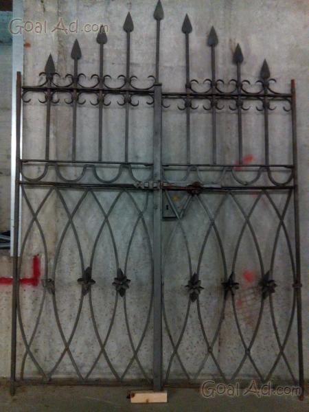 Cancello ferro battuto lunghezza altezza disponibile for Ferro usato al kg