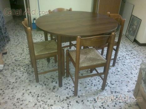 Sala barocco vendo tavolo rotondo sedie cerca compra for Tavolo rotondo barocco