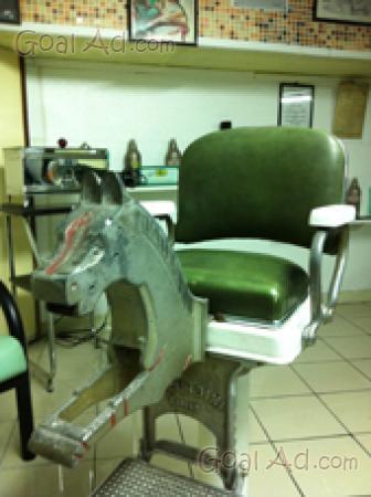 Poltrona barbiere vintage anni vendo zerbini cerca for Poltrone da barbiere usate