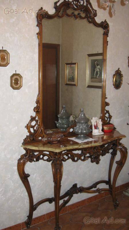Consolle specchiera ripiano marmo luigi filippo cerca for Subito it milano arredamento