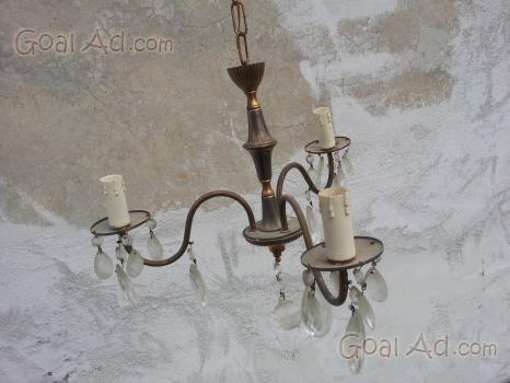 Lampadario stile gocce pendenti cristallo bracci cerca compra
