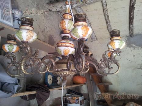 Lampadario Antico Ottone : Lampadario antico ceramica parti angeli ottone cerca compra