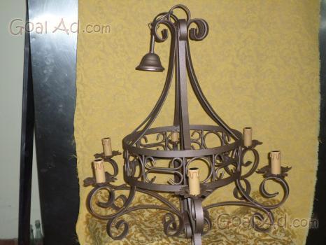 Lampadario Rustico In Ferro Battuto : Lampadario rustico legno ferro cerca compra vendi nuovo e usato