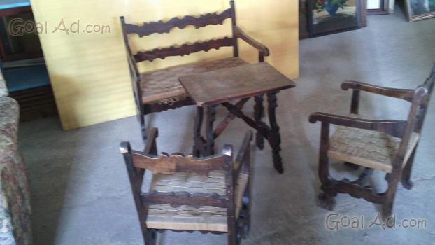 Salottino veranda vimini completo sedie tavolino cerca - Salottino da interno ...