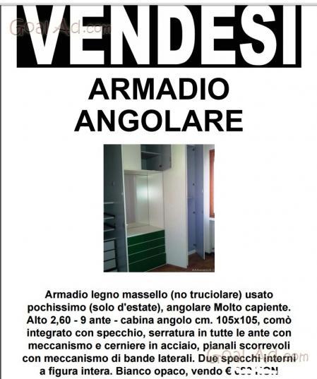 Armadio angolare armadio angolare legno bianco - Cerca, compra ...
