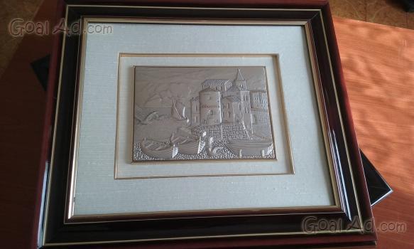 Quadro brunel vendo bellissimo bassorilievo argento - Cerca, compra ...